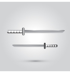 Japanese sword ninja weapon vector