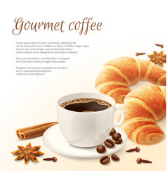 Breakfast with coffee background vector
