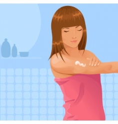 Body lotion vector