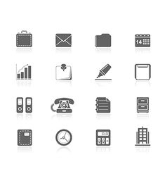 Black icons - office vector