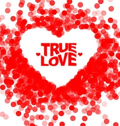 True love geometric color typography poster vector