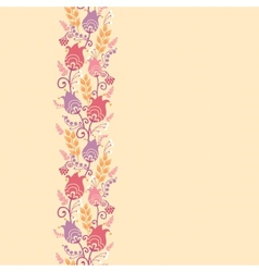 Tulip flowers horizontal seamless pattern vector