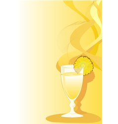 Cocktail glass with ananas vector