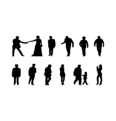 Different silhouettes of people vector