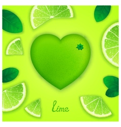 Lime art composition vector