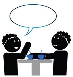 Two women talking vector