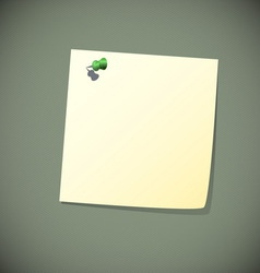 Green read note paper with pin vector