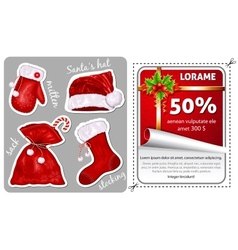 Sale christmas stickers vector