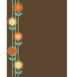 Brown flower border vector