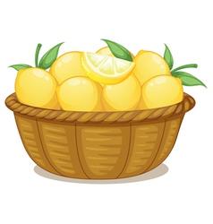 A basket of lemons vector