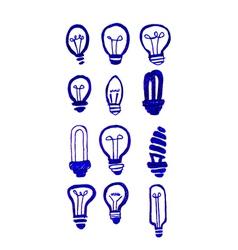 Concept of idea inspired bulb shape vector