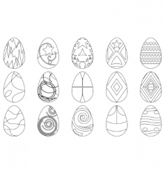 Easter eggs contours vector
