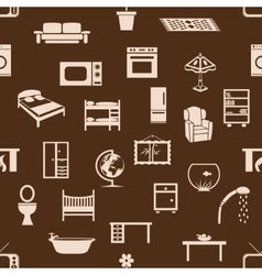 Seamless home equipment pattern vector