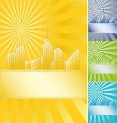 Banner skyscraper vector