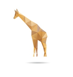 Giraffe abstract isolated on a white backgrounds vector