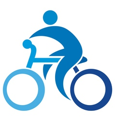 Cyclist icon-bicycle symbol vector