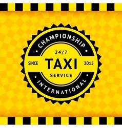 Taxi symbol with checkered background - 15 vector