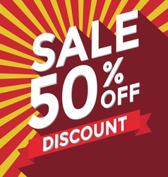 Sale 50 percent off discount vector