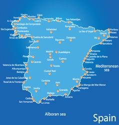 Spain map art vector