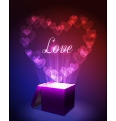 Love gift concept vector