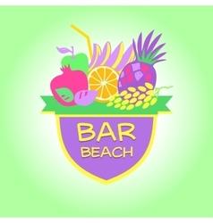 Template logo beach bar party vector