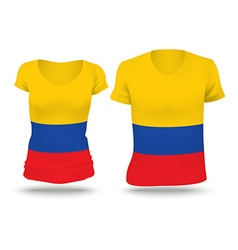 Flag shirt design of colombia vector