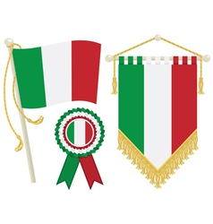 Italy flags vector