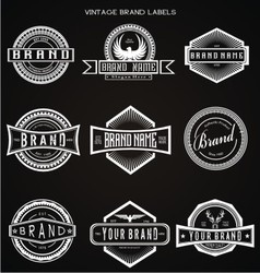 Vintage brand labels vector