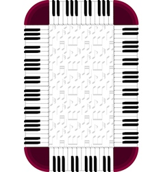 Piano frame with dimmed backgorund vector