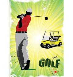 Golf poster vector