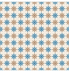 Marine seamless pattern of hand wheels vector