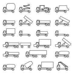 Set of icons - transportation symbols vector