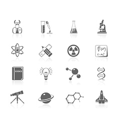 Black icons - science vector
