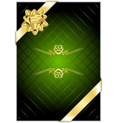Green gold present background vector