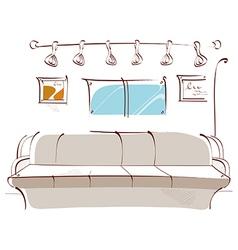 Home interior background vector