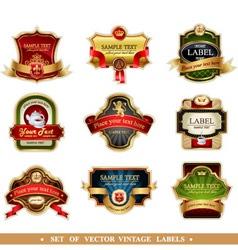 Labels set vector