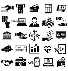 Finance money icons set vector