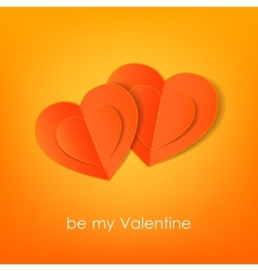 Valentines day typographical background with vector