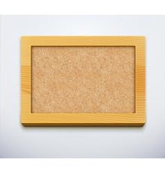 Cork bulletin board vector
