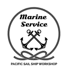 Company logo design for marine service vector