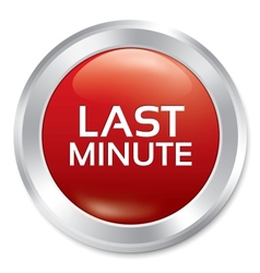 Last minute button sale red round sticker vector
