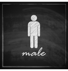 Vintage with male sign on blackboard background vector