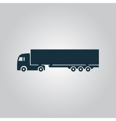 Detailed trucks silhouettes vector