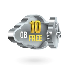 Free cloud storage promotion banner vector