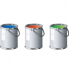 Paint tins vector