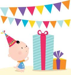 First birthday vector