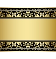 Gilded ornmaments and patterns vector