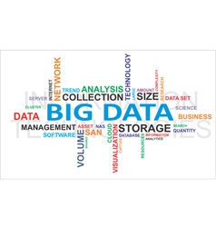 Word cloud big data vector