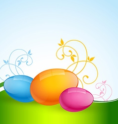 Colorful easter eggs vector
