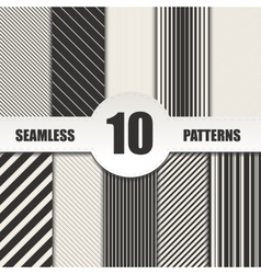 Set line seamless patterns background vector
